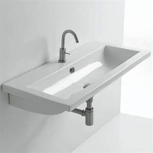 Waschbecken Für Draußen : whitestone einbauwaschbecken tube in 60cm oder 96cm ~ Frokenaadalensverden.com Haus und Dekorationen