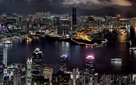 hongkong city  night wallpaper high definition ziscr