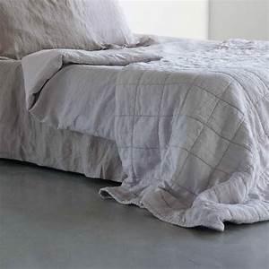 house in style plaid couvre lit lin lave 39nice39 gris With tapis exterieur avec plaid lin canapé