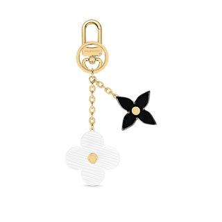 blooming flowers bag charm  key holder  white accessories  louis vuitton