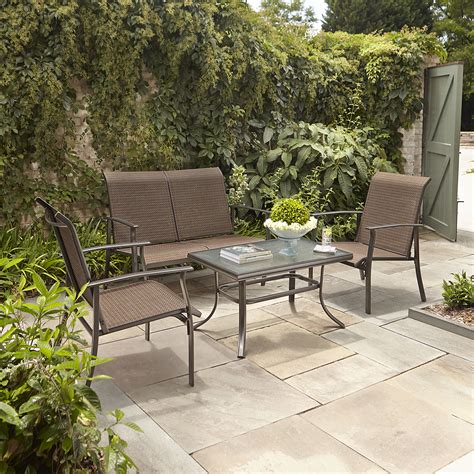 garden oasis harrison 4pc sling seating set limited