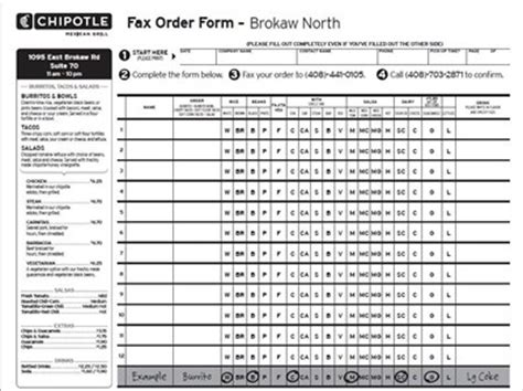 efficient chipotle fax order form pdf for everyone