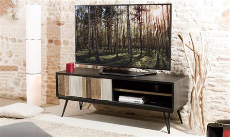 dressing bureau meuble tv scandinave en bois et mtal