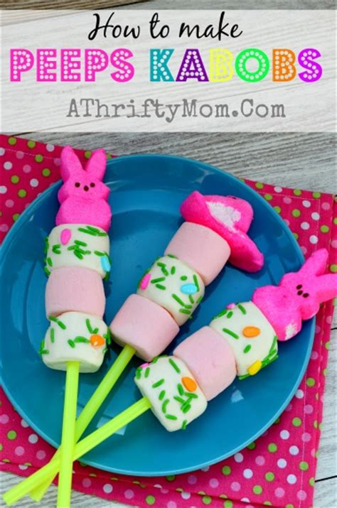 peeps kabobs quick  easy easter treat easter peeps