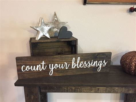 Blessings Home Decor: Pallet Count Your Blessings Sign