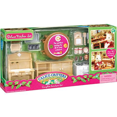 calico critters kitchen deluxe kitchen set calico critters kool child