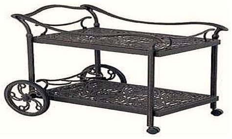 serving cart with wheels wrought iron patio serving cart