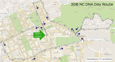 Cobb Parking Deck Unc Map by Nc Dna Day 187 5k Run