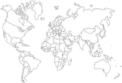 map template blank map world