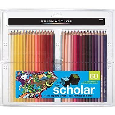 prismacolor scholar colored pencils 60 prismacolor 174 scholar coloured pencils 60 pack staples