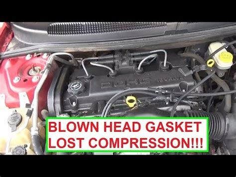 blown head gasket signs lost compression demonstrated