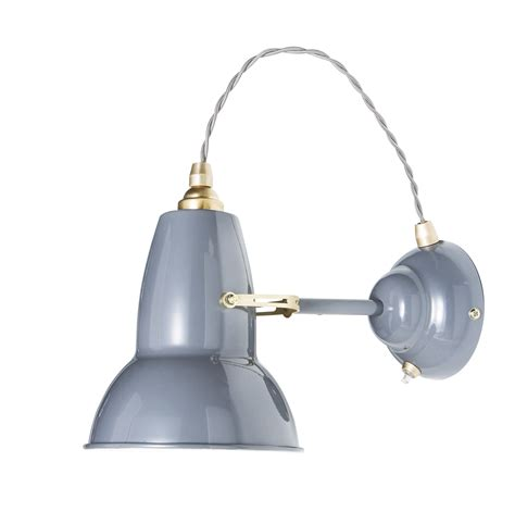 original 1227 wall light brass elephant grey by anglepoise