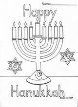 Hanukkah Coloring Happy Dreidel Hannukah Menorah Teacherspayteachers Colors sketch template
