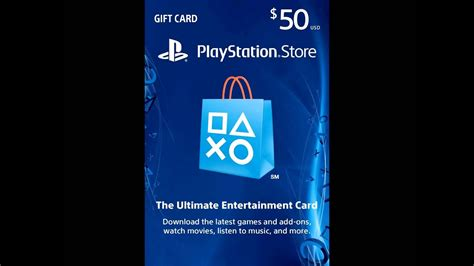 Buy one for yourself or as a gift card for someone else! $50 PlayStation Store Gift Card - PS3/ PS4/ PS Vita - YouTube