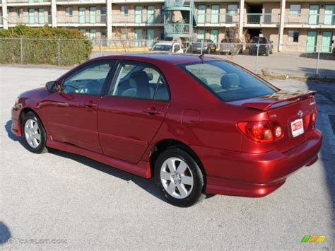 impulse red pearl  toyota corolla  exterior photo