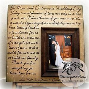 thank you parents wedding gift personalized picture frame With wedding gifts from parents