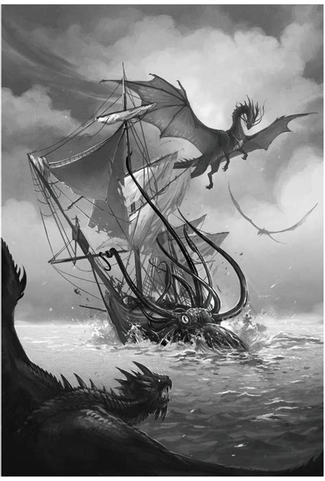 114 best Sea Monsters images on Pinterest | Sea monsters