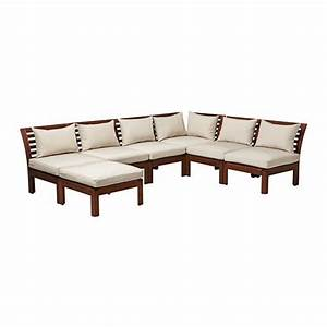 applaro hallo 6 seat sectional stool outdoor brown With outdoor sectional sofa ikea