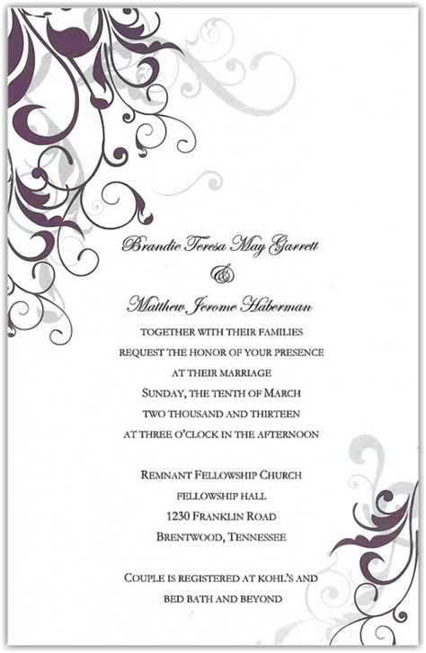 wedding ceremony  invitation wording