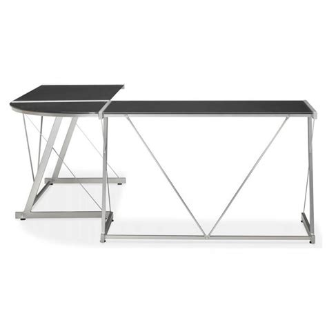 bureau d angle noir bureau d angle design rovigo en verre tremp 233 et m 233 tal noir