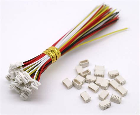 20 Sets Mini Micro Sh 1.0 4-pin Jst Connector With Wires