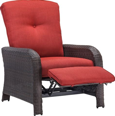 reclining chair outdoor hanover strathmere luxury wicker outdoor recliner chair