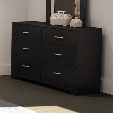 South Shore 6 Drawer Dresser by Maddox Dresser In Black 3107010