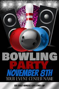 How To Make Your Own Flyers For Your Business Bowling Party Event Template Postermywall