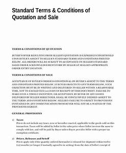 quotation example website quotation templates word pdf With software terms and conditions template