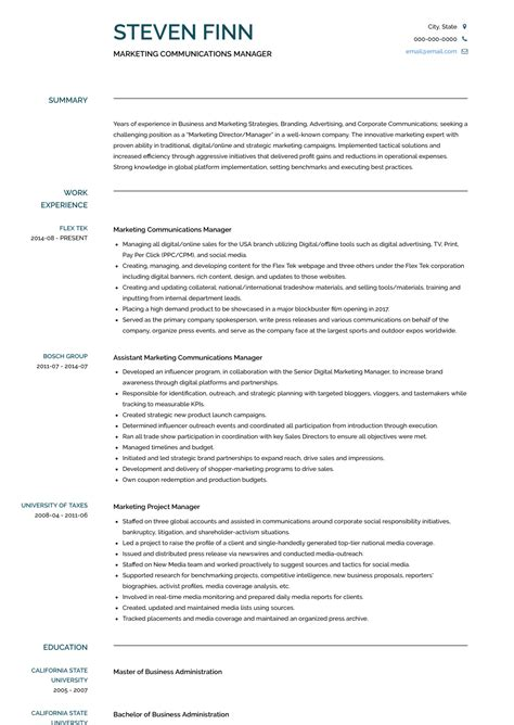 Communications Resume by Communications Manager Resume Sles And Templates