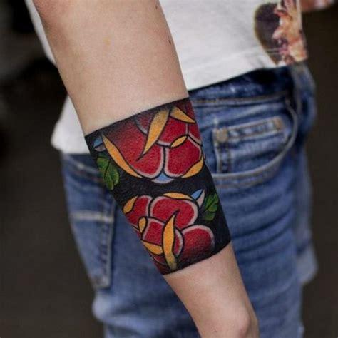 flower band tattoo armband forearm tattoo  tattoochiefcom