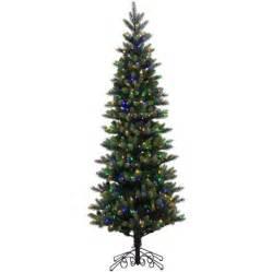 vickerman pre lit 7 5 39 instant royal artificial tree led multicolor lights walmart