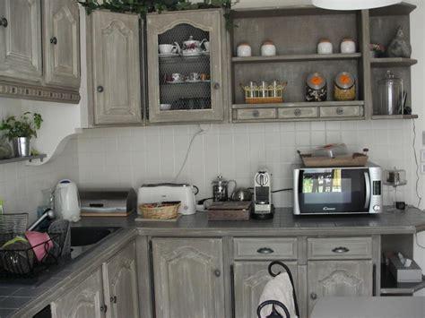 cuisine beige et gris cuisine repeinte en gris