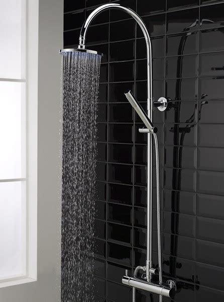 thermostatic bar shower valve eternity riser set hudson