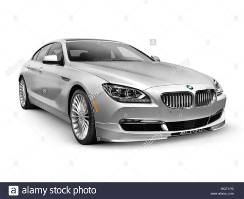 Silver 2015 Bmw Alpina B6 Gran Coupe Luxury Car Isolated