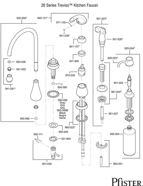 price pfister kitchen faucet parts diagram pfister kitchen faucet repair parts quotes