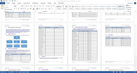 implementation plan template ms word templates forms