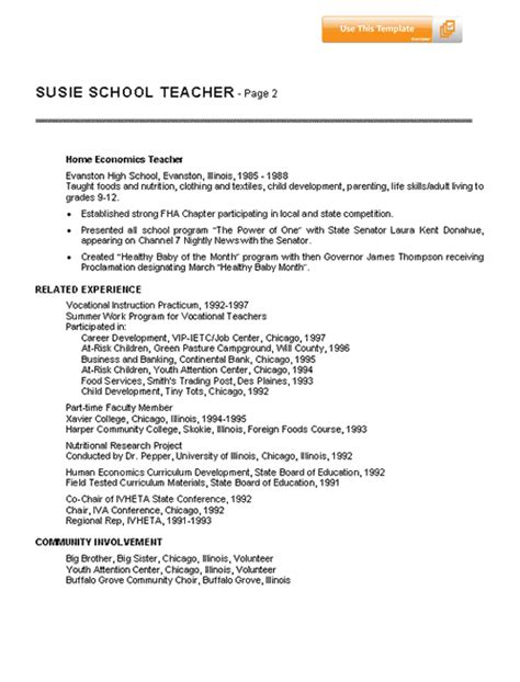 resume for teachers whether you are requisitioning an advancements position or a classroom
