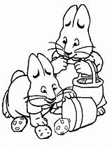 Max Coloring Ruby Bucket Accidently Drop Potatoes Fun sketch template