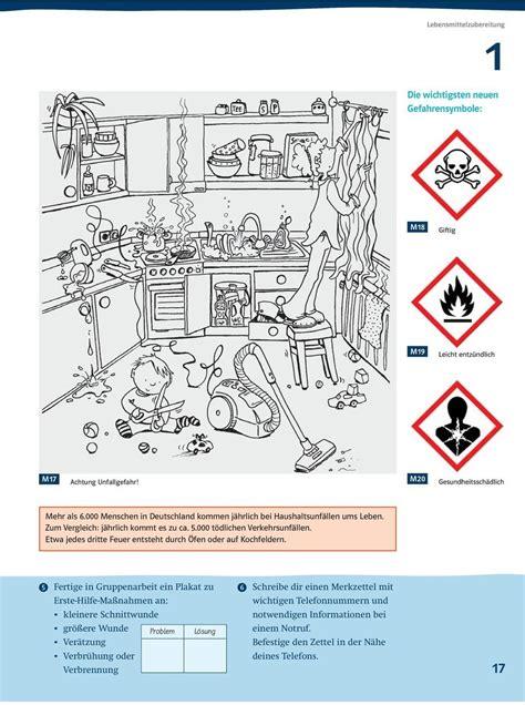 Unfallgefahren In Der Küche by Unfallgefahren In Der K 252 Che Arbeitsblatt Arbeitsblatt