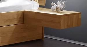 Nachttisch Mit Schublade : schwebender nachttisch z b aus kernbuche manchester ~ Frokenaadalensverden.com Haus und Dekorationen