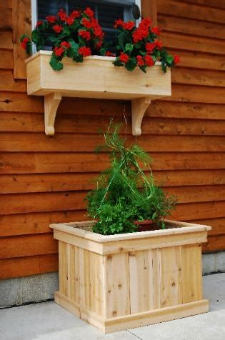 window planter box garden projects wood planters