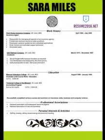 modern resume exles 2016 resume 2016 tips on how to get a this year