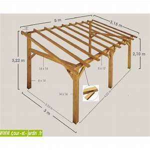auvent terrasse sherwood carport bois de 5mx3 garage With exceptional plan maison en pente 10 construire un carport bois