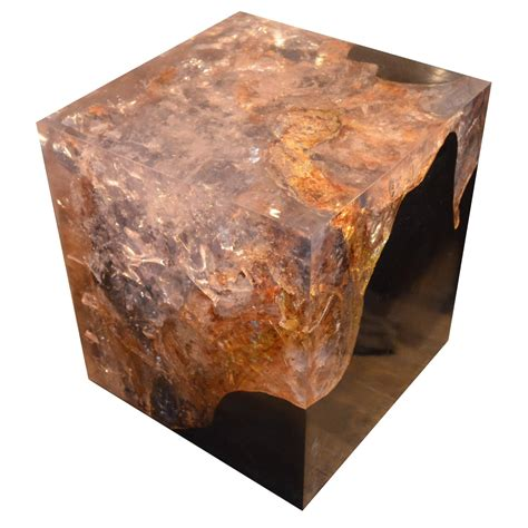 Cracked Resin Cocktail Table For Sale At 1stdibs