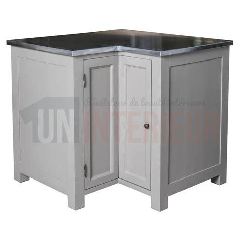 meuble d angle cuisine acheter meuble d angle de cuisine zinc pin massif