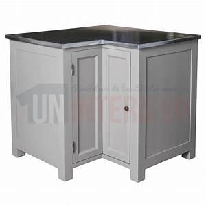 Meuble D Angle : acheter meuble d 39 angle de cuisine zinc pin massif ~ Teatrodelosmanantiales.com Idées de Décoration