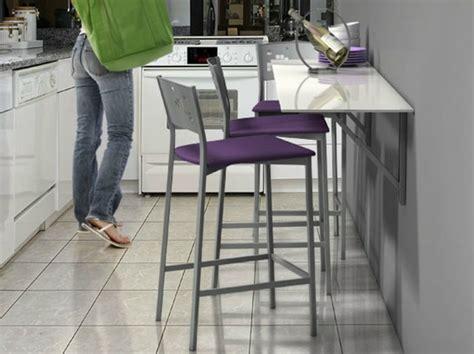 cuisine pour petit espace table murale pour une cuisine plus sympa