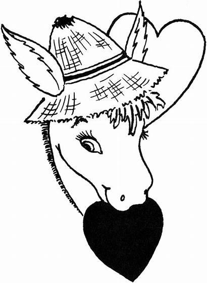 Donkey Valentine Graphics Freebie Digi Clip Drawing