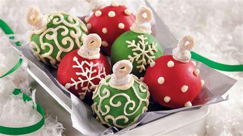 cake ball ornaments recipe tablespooncom